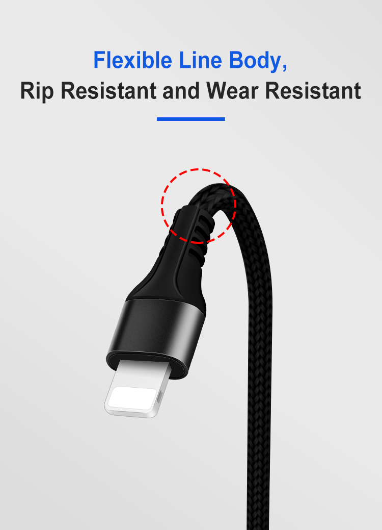 metal braided iphone cable