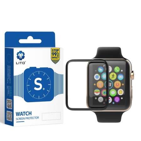 S + Protecteur d'écran en verre avec montre Smart Gores Full Covered Full Glue Anti Gores