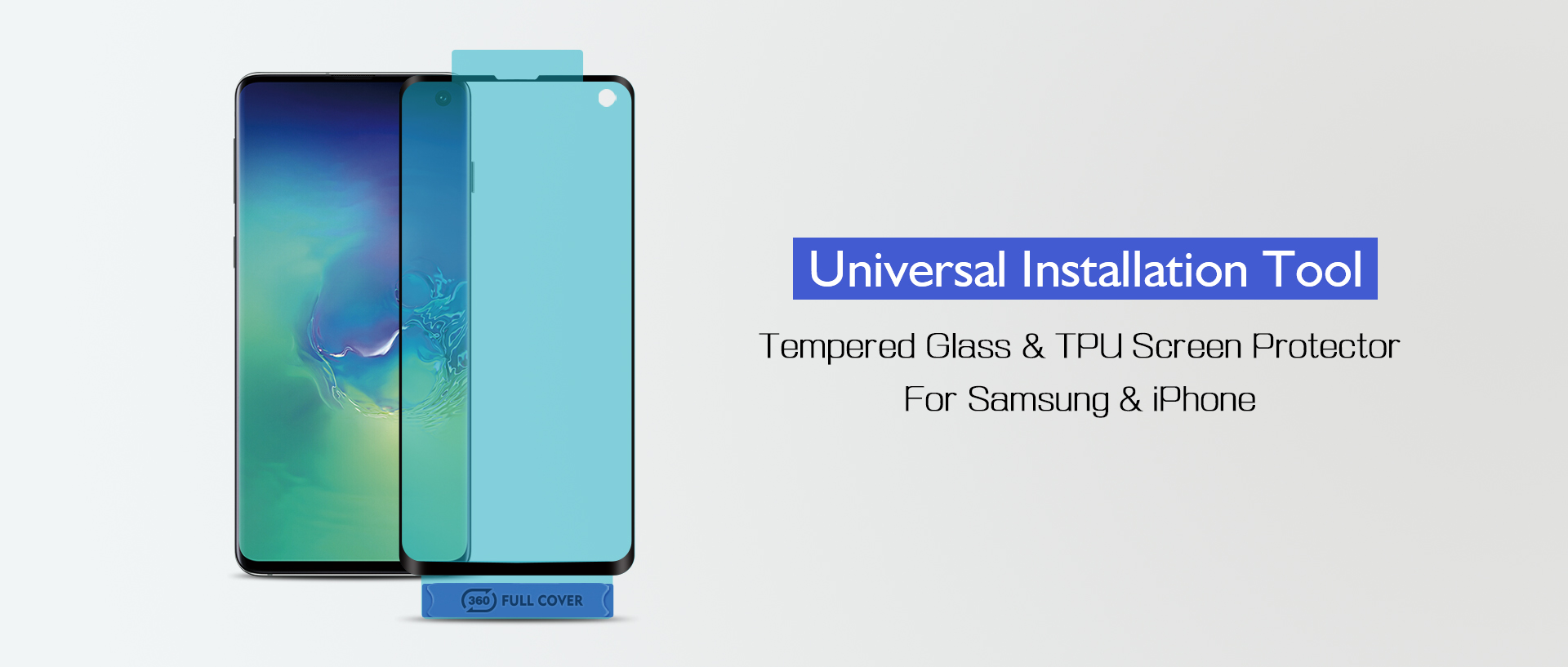 Lito Universal Tempered Glass & TPU Screen Protector Installation Tool For iPhone, Samsung